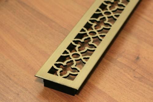 декоративные решетки в подоконник латунь синдика